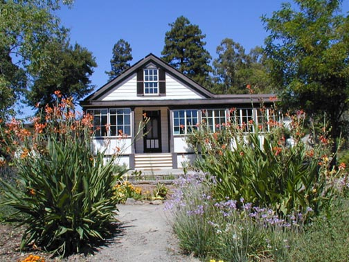 Jack London cottage in summer