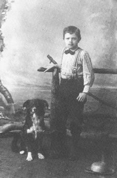 Jack London with dog Rollo